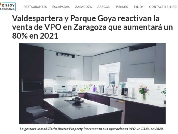 Enjoy Zaragoza VPO Doctor Property